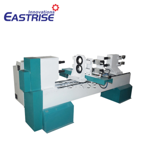 3-Axis Double-Tool Holder CNC Wood Turning Lathe Machine with Horizontal Spindles
