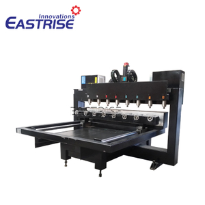 Multi-heads 3d CNC Router Carving Machine for Table Leg, with Rotary Axis