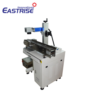 Cabinet Laser Marking Machine with Pen Conveyor Belt